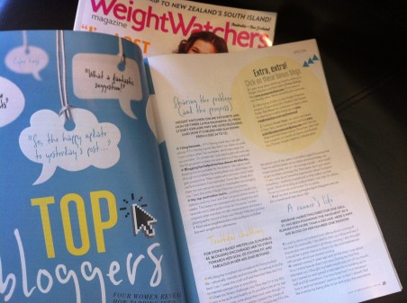 Article in Weightwatchers magazine