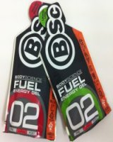 Many people use Energy Gels such as these BodyScience ones in races.