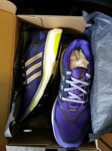 Loving my purple Adidas Boost shoes :-)