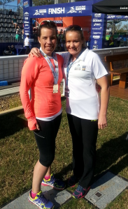 Posing after the race with Benita Willis - she was so encouraging :-)