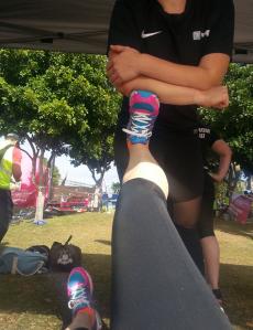 Getting a good leg stretch