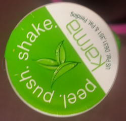 Karma Wellness Drinks - push peel and shake
