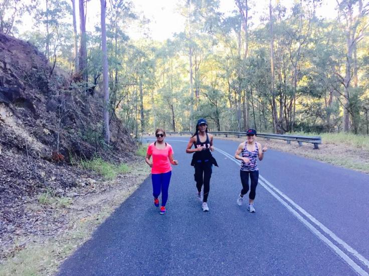 Running up Mt Cootha